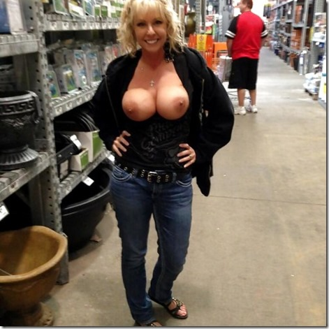 Shopping centre milf
